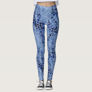 Legging Caneleiras azuis geladas