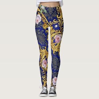 Legging Caneleiras barrocos do design das mulheres