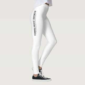 Legging Caneleiras brancas com logotipo vertical