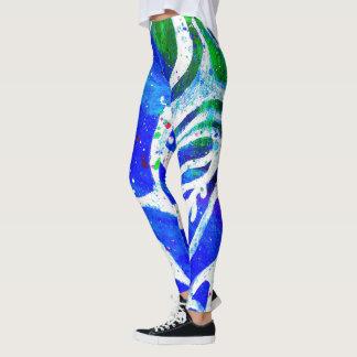 Legging Caneleiras brancas do Splatter da pintura do