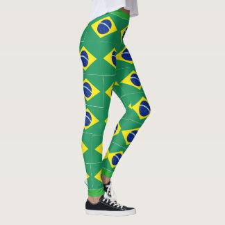 Legging Caneleiras brasileiras do costume da bandeira