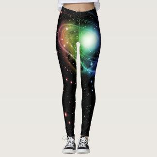 Legging Caneleiras brilhantes da galáxia das cores