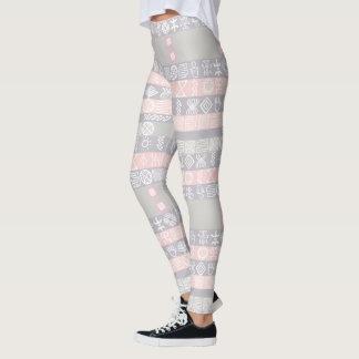 Legging Caneleiras chiques do design de Boho do africano