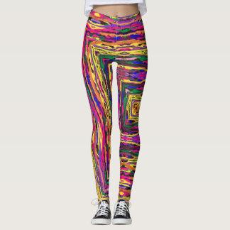 Legging Caneleiras coloridas abstratas da pintura