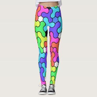 Legging Caneleiras coloridas com design do girador da