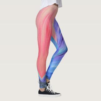 Legging Caneleiras coloridas da arte abstracta