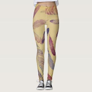 Legging Caneleiras coloridas da pena