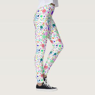 Legging Caneleiras coloridas das bolhas