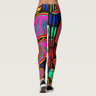 Legging Caneleiras coloridas do desenhista