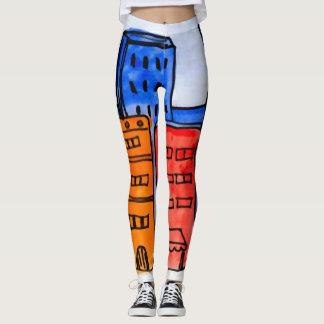 Legging Caneleiras coloridas dos grafites da Nova Iorque