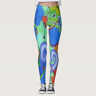 """Legging """"Caneleiras coloridas dos sonhos astrais"""" de"""