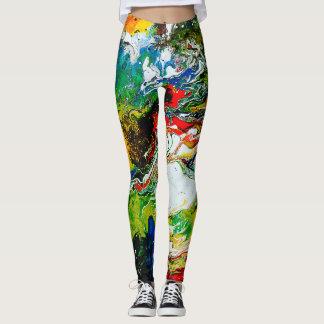Legging Caneleiras coloridas modernas do gym/ioga da arte