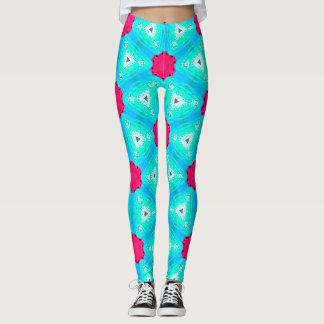 Legging Caneleiras coloridas nos rosa e no azul