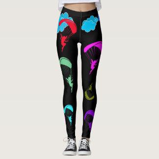 Legging Caneleiras coloridas pretas do duende