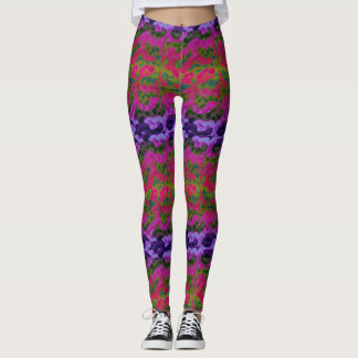 Legging Caneleiras coloridas vibrantes do divertimento