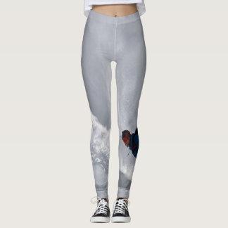 Legging Caneleiras com cinzas do snowboarder