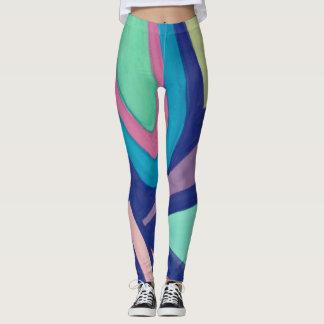 Legging Caneleiras com design abstrato