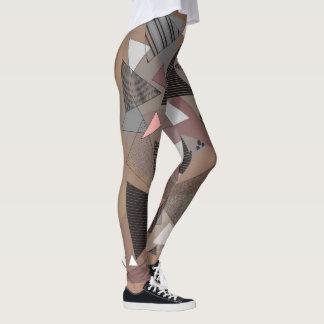 """Legging Caneleiras com dos """"a serra"""" design triângulos"""