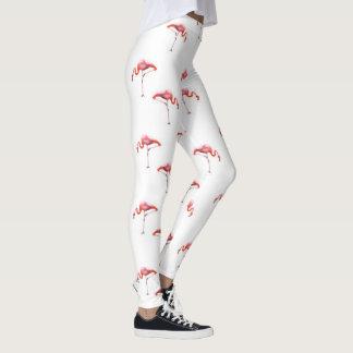 Legging Caneleiras cor-de-rosa & brancas na moda do