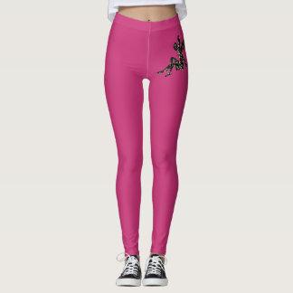 Legging Caneleiras cor-de-rosa da forma