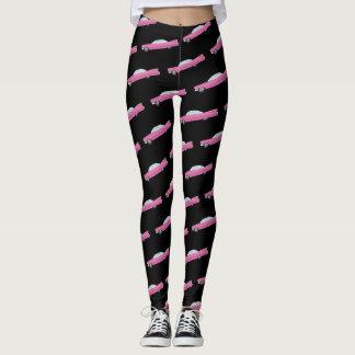 Legging Caneleiras cor-de-rosa do divertimento do cadillac
