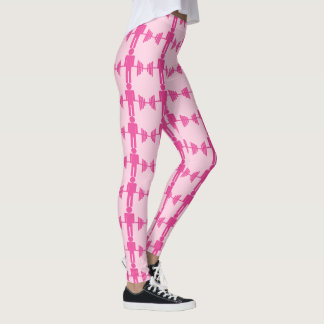 Legging Caneleiras cor-de-rosa do Gym do halterofilismo do