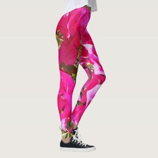 Legging Caneleiras cor-de-rosa do impressão do