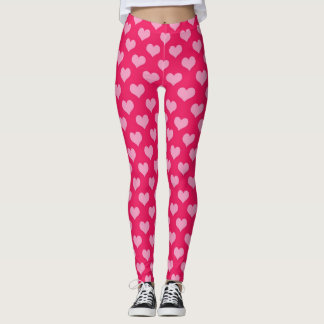Legging Caneleiras cor-de-rosa dos corações