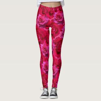Legging Caneleiras cor-de-rosa dos rosas