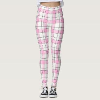 Legging Caneleiras cor-de-rosa, pretas, brancas da xadrez