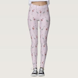 Legging Caneleiras da agitação do flamingo (rosa