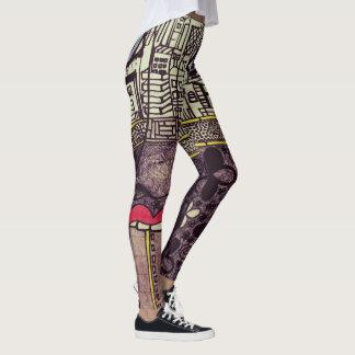 Legging Caneleiras da arte de LuckyPen