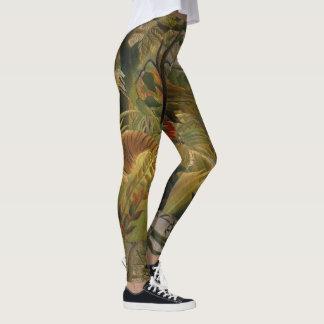 Legging Caneleiras da arte do tigre de Rousseau