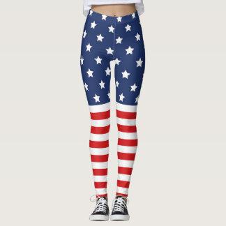 Legging Caneleiras da bandeira americana