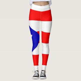 Legging Caneleiras da bandeira de Puerto Rico