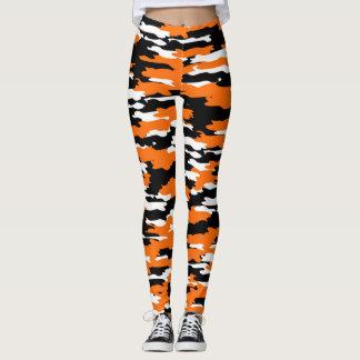Legging Caneleiras da camuflagem do tigre