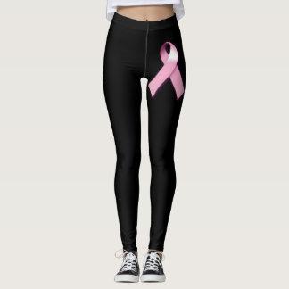 Legging Caneleiras da consciência do cancro da mama
