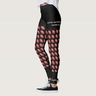 Legging Caneleiras da equipa de futebol com Shorts pretos