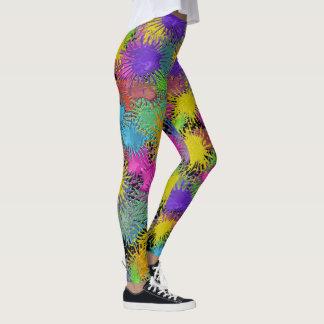 Legging Caneleiras da forma do pop das calças dos pintores