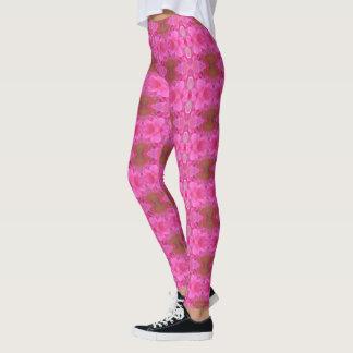 Legging Caneleiras da mandala do rosa do rosa (multi