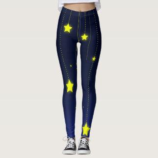 Legging Caneleiras da noite estrelado