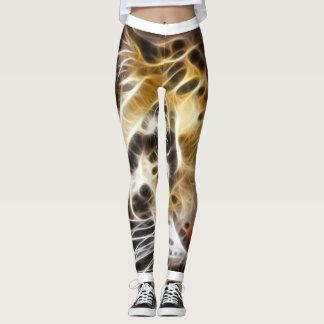 Legging Caneleiras da pele do tigre