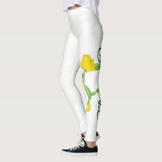 Legging Caneleiras da pose do gato (logotipo da pose da