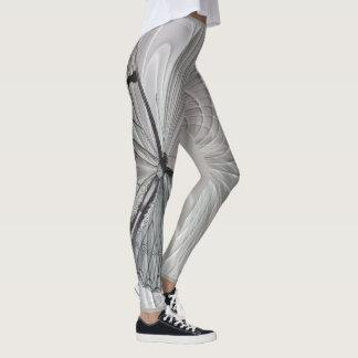 Legging Caneleiras das cinzas de prata com teste padrão de