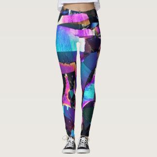 Legging Caneleiras de cristal coloridas de Geode