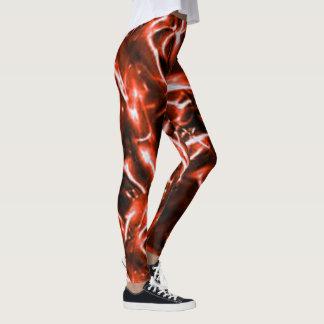 Legging Caneleiras de electrificação vermelhas da arte