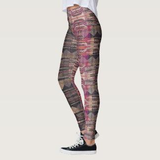 Legging Caneleiras de HAMbyWG - azeitona cor-de-rosa preta