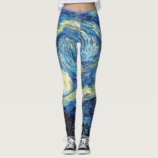 Legging Caneleiras de Van Gogh da noite estrelado