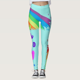 Legging Caneleiras do amor do arco-íris
