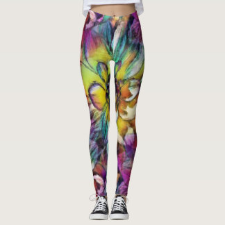 Legging Caneleiras do Aquarelle da dália